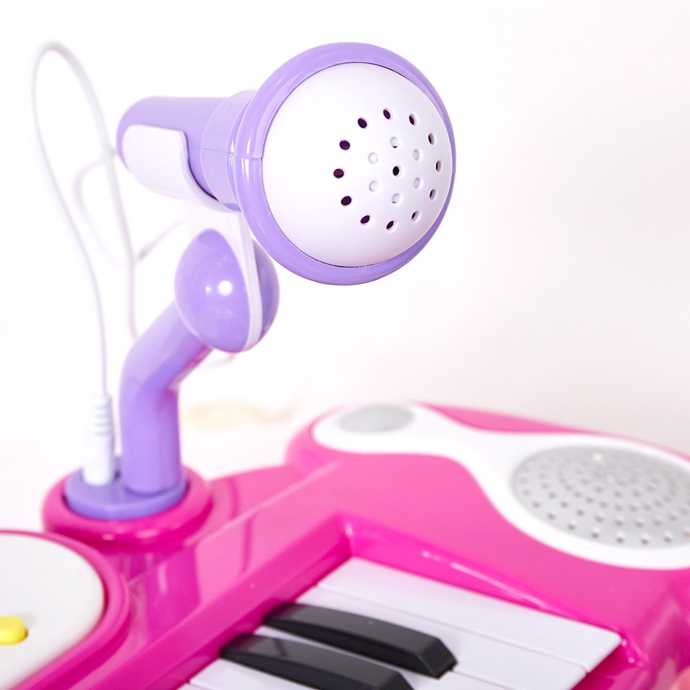 COLOR TREE Musical Kids Electronic Keyboard 37 Key Piano with Microphone by COLOR TREE (Image #4)