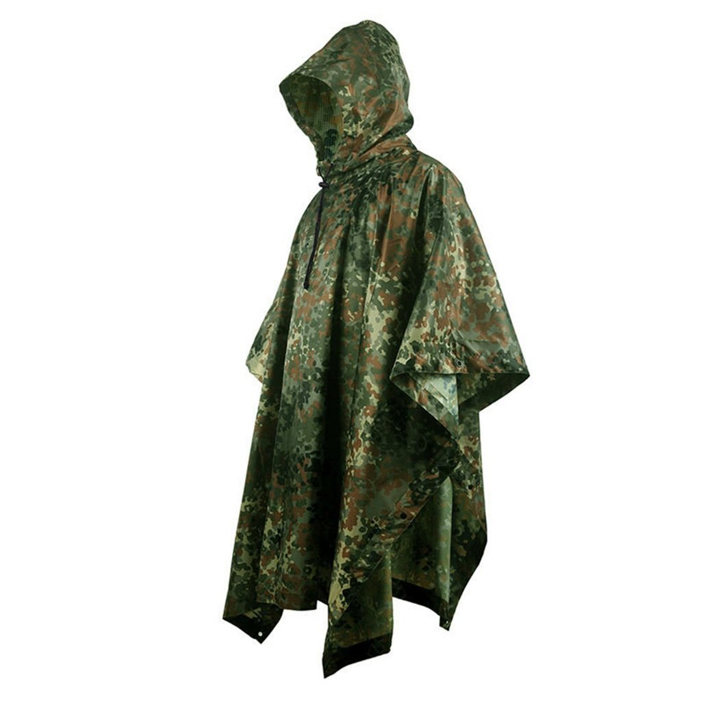 LYP-Rainwear Portable Raincoat Suit Outdoor Camouflage Raincoat Jungle Concealed Multi-Purpose Poncho Mat Multi-Purpose Environmental Protection Hidden Clothes for Outdoor Walking Cycling (Color : E) by LYP-Rainwear
