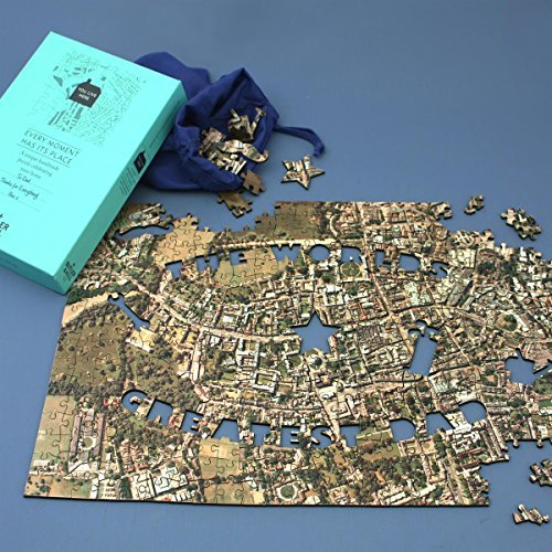 Personalised Best Dad in The World Jigsaw Puzzle (Aerial Photography (England and Wales only)) by Butler & Hill (Photography Aerial Map)