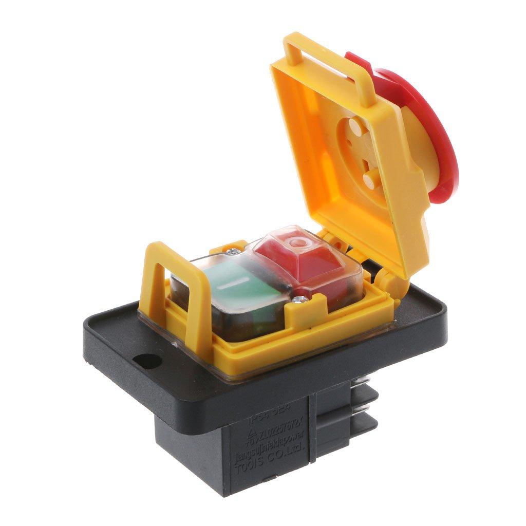ZChun KJD12 250V 4Pin impermeable magn/ético Startstopp no Spannungsausl/öser