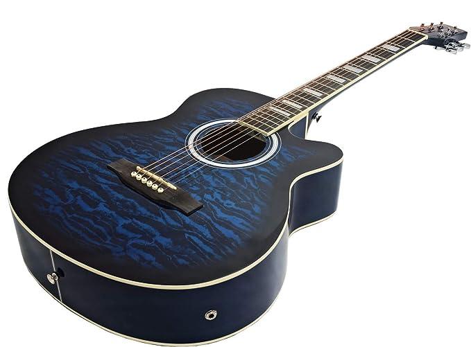 Guitarra eléctrica semi-acústica «Matt Satin» de tamaño grande de Benson (Blueburst).: Amazon.es: Instrumentos musicales