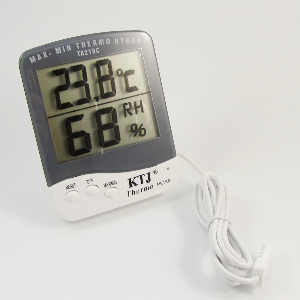 LCD View Digital Thermometer Hygrometer Humidity Monitor Egg Incubator Hive Heating DHLink