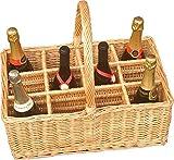 12 Bottle Wicker Drinks Basket