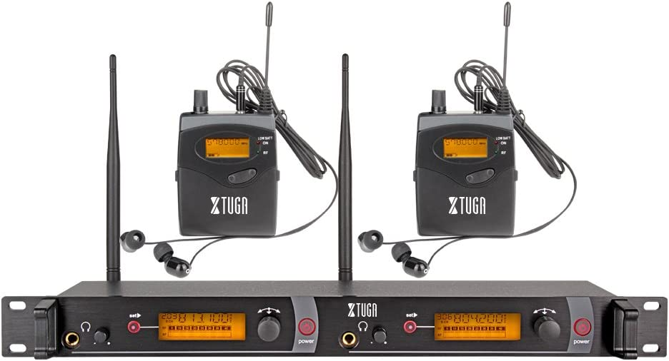XTUGA RW2080 Whole Metal wireless discount In Sales 2 Ear Channe System Monitor