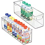 mDesign Kitchen Refrigerator Cabinet or Pantry Baby Food Storage Organizer Bin with Handles for Breast Milk, Pouches…