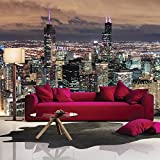 Chicago Skyscrapers America USA City Skyline Wall Mural Travel Photo Wallpaper available in 8 Sizes Gigantic Digital