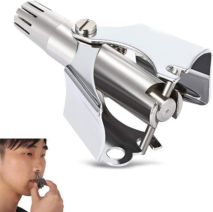 Nariz Recortador de Cabello Manual Impermeable Seguro Cuidado de la Cara Afeitadora mecánica para el recortador de Nariz: Amazon.es: Hogar