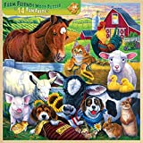 Masterpieces Fun Facts 48-Piece Wood Puzzle, Farm Friends