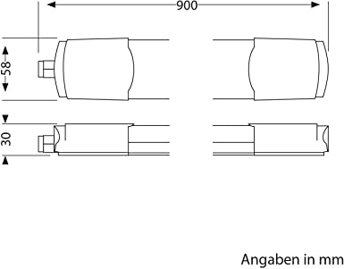 2 Stk. warm-wei/ß ledscom.de LED Deckenleuchte WANE 25W=117W 1800lm 90cm IP65