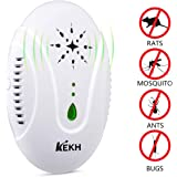 KEKH Pest Control Ultrasonic Repellent Plug in, Best Electronic Insect Repeller for Bugs, Mice, Cockroach, Fleas, Mosquitoes, Spiders, with Variable-frequency Drive Effective on All Pest