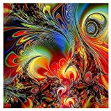 aug-ust DIY Diamond Paintings 5D Colorful Embroidery Rhinestone Pasted Painting Abstract Painting Cross Stitch (B)