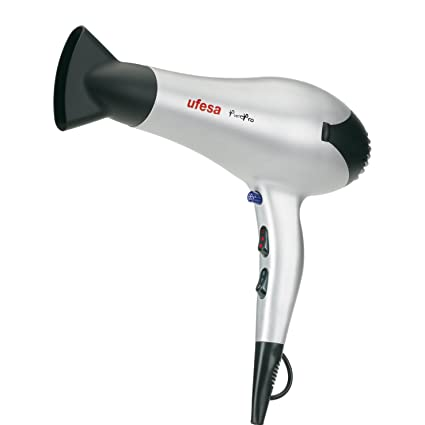 Ufesa Pure Pro - Secador de pelo, 2200 W, 2 velocidades, 3 temperaturas