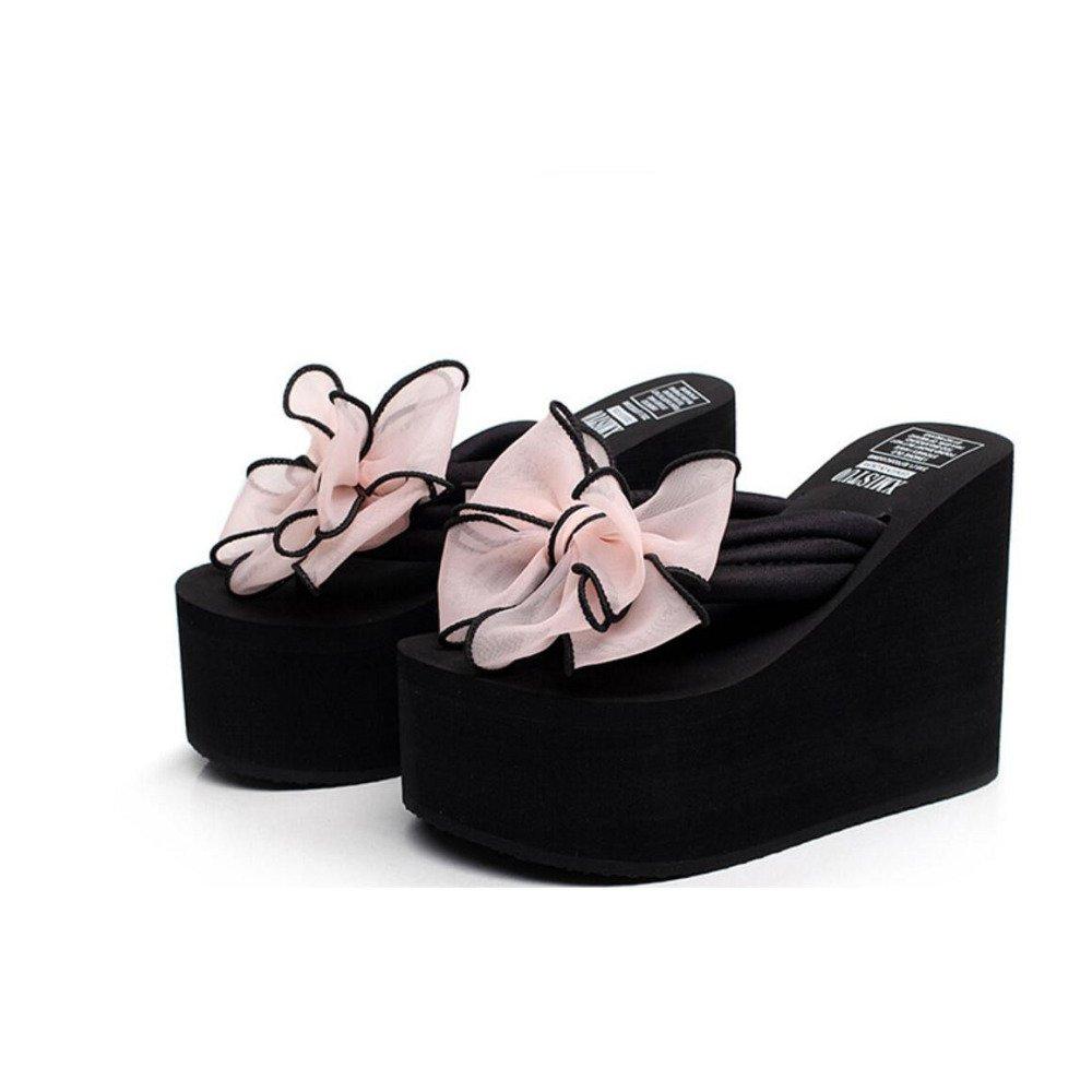 Tongs Chaussures de à Talons Hauts Chaussures Antidérapantes Pink pour Femmes Chaussures de Plage épaisses Compensées Sandales Pantoufles Chaussures Décontractées Talon DE 12 Cm Pink eb8ca26 - deadsea.space