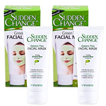 Sudden Change Green Tea Facial Mask 3.4oz (2 Pack) Power Starters Age-Fighting Trio