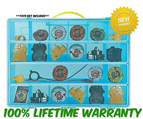 High Quality BeyBlades Carrying Case - Stores Dozens Of Battle Spinners - Durable Toy Storage Organizers By Life