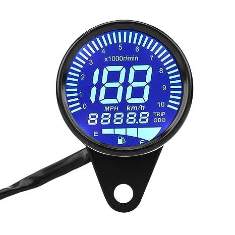 Amazon com: Qiilu Universal Motorcycle LED Digital Speedometer