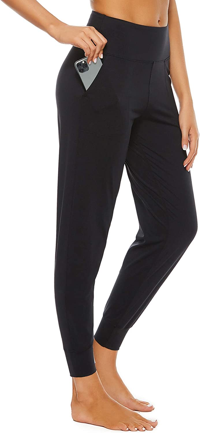 STELLE Joggers for Women with Pockets, High Waist Workout Yoga Tapered Sweatpants