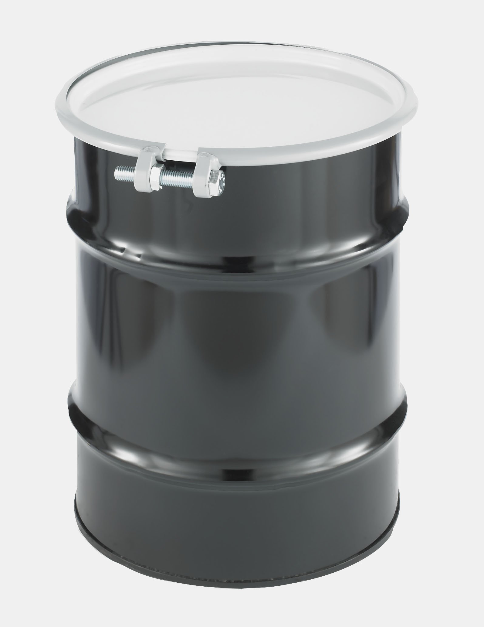 SKOLNIK Carbon Steel Open Head Drum, 10 gallons, Bolt Ring, 0.9mm Body Gauge (Pack of 1) by Skolnik