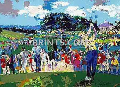 LeRoy Neiman - Augusta Golf Open Edition Serigraph on Paper