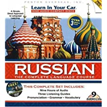 Learn In Your Car Russian Complete: Complete Edition, all 9CDs, the DVD, and the 3 Listening Guides