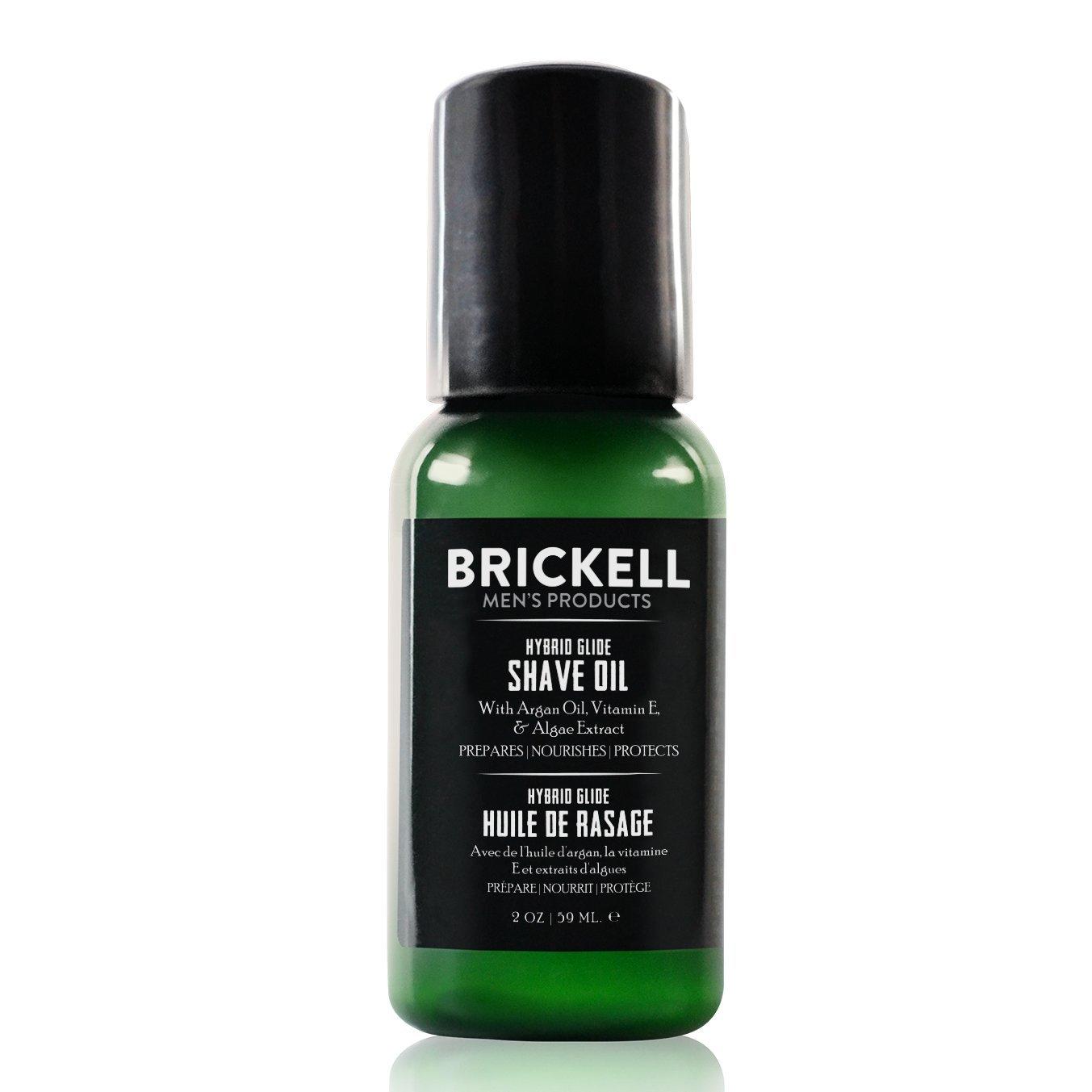 Brickell Men's Hybrid Glide Pre Shave Oil - Natural & Organic Pre-Shave Oil for Men - 2oz
