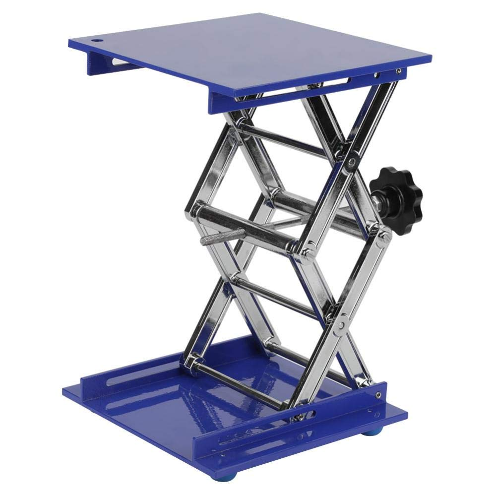 200×200×280mm Aluminum Oxide Lab Jack, Scientific Lab Lifting Platform Stand Rack Scissor Jack Lift with Adjustable Height