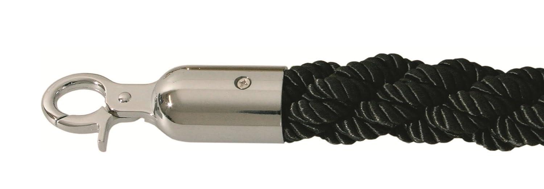 Kordel gedreht Absperrband Absperrungsseil Absperrpfosten Seil 2, 5 Meter zur Absperrung in schwarz Faimex