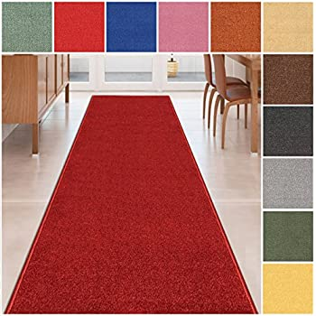 Amazon Com 6 X24 Red Indoor Outdoor Carpet Area
