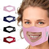 Smile Face Protection Clear Visible Nose Protective Screen Reusable Breathable Transparent Veil Cover Expression Lip Reading
