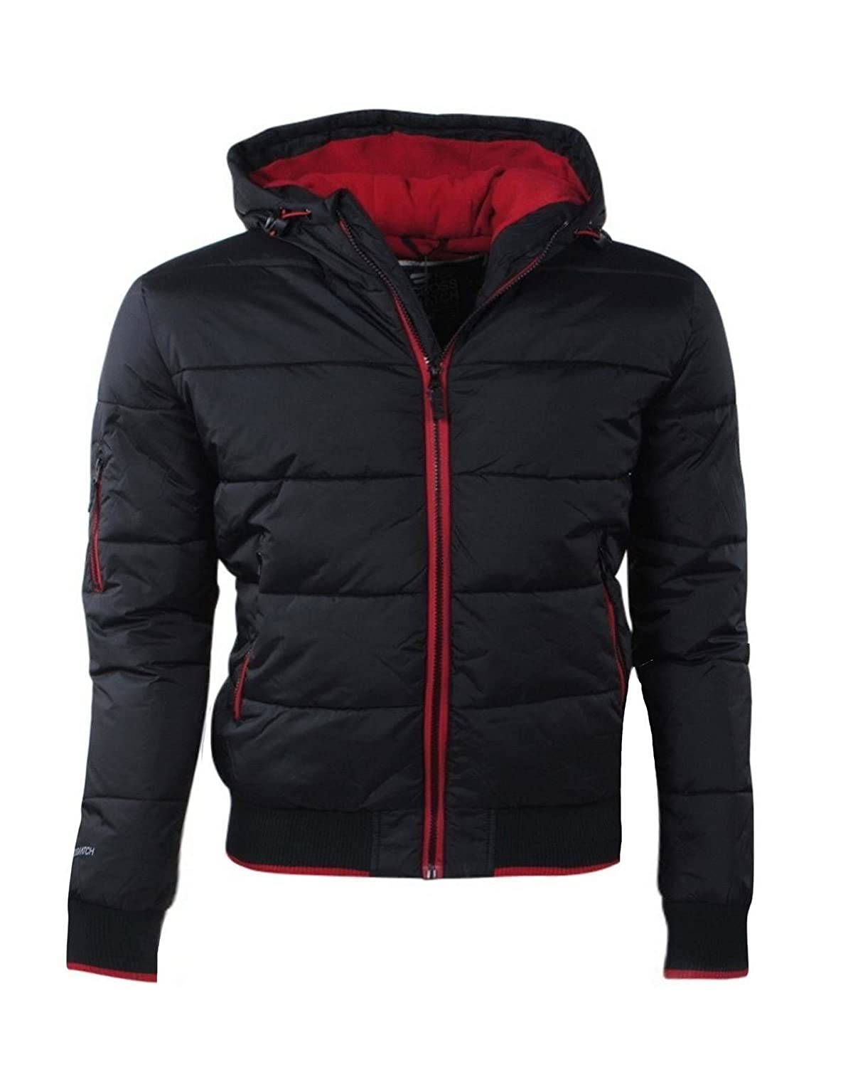 XXL NEW MENS CROSSHATCH AWESENT PADDED PUFFER HOODED JACKET S