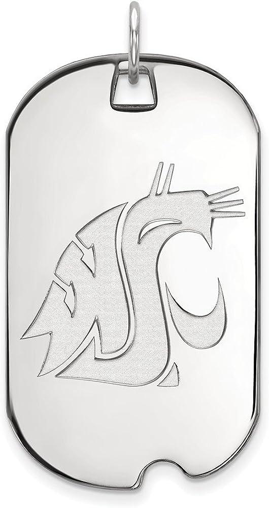 White Sterling Silver Charm Pendant Washington NCAA State University 46 mm 24
