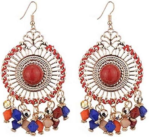 copper earrings dangle boho chic earrings vegan earrings boho dangle earrings birthday gift for women glitter Faux leather earrings