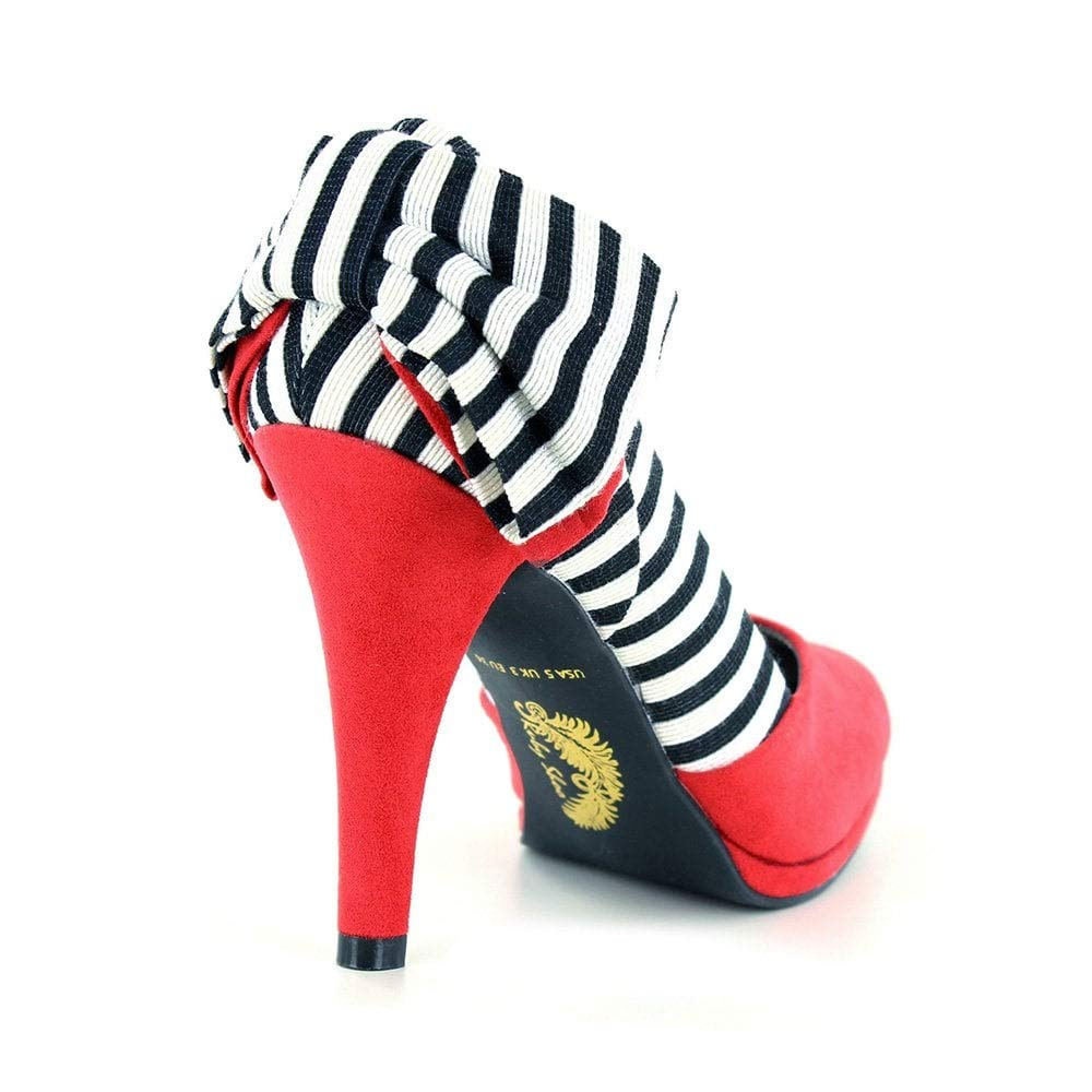Ruby Shoo Damen Schuhe Katie Vintage Streifen Schleife Pumps Pumps Pumps Geschlossen 2e0947
