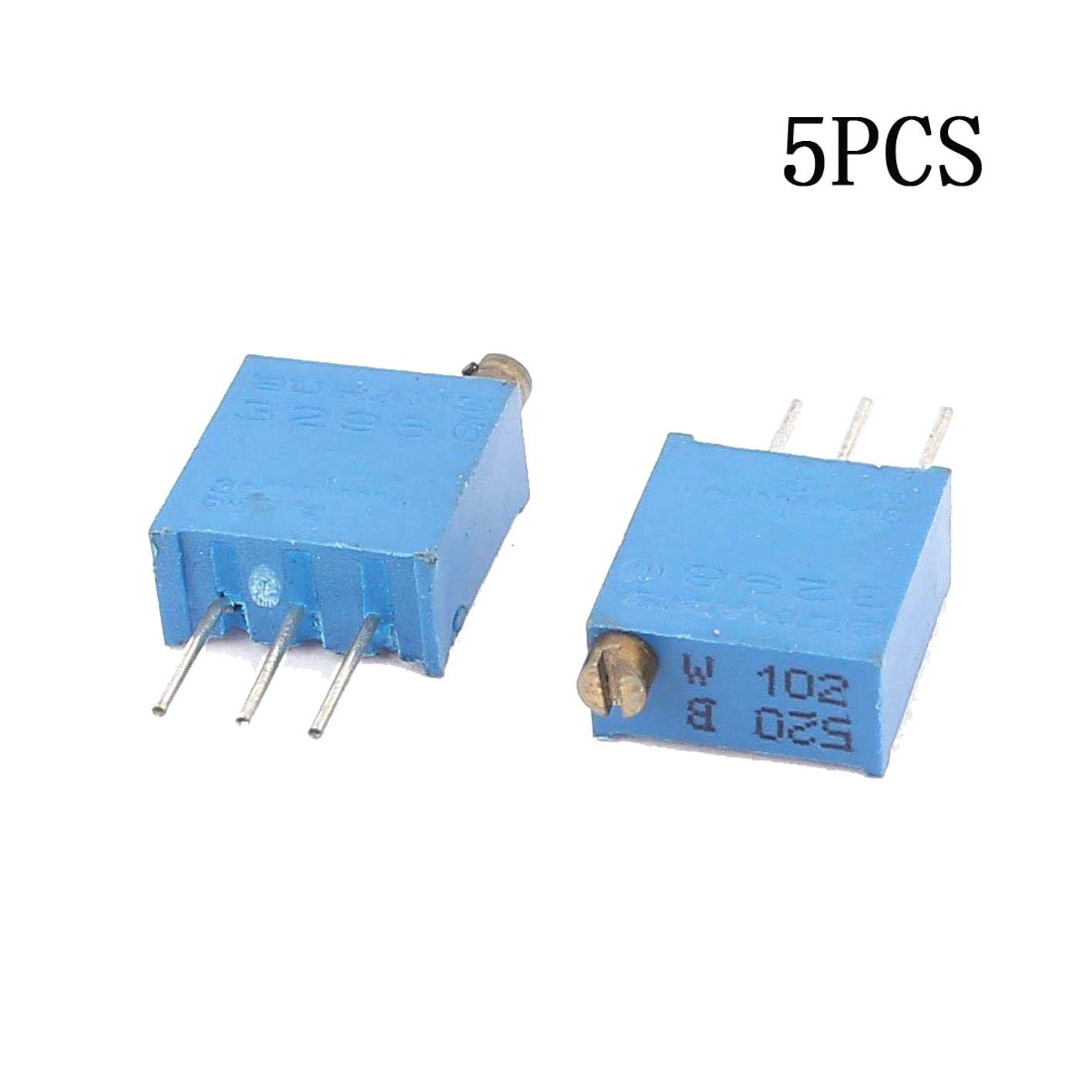 10 Pcs 3296W-102 0.5W 1K ohm Trimming Cermet Potentiometer Adjustable Resistors