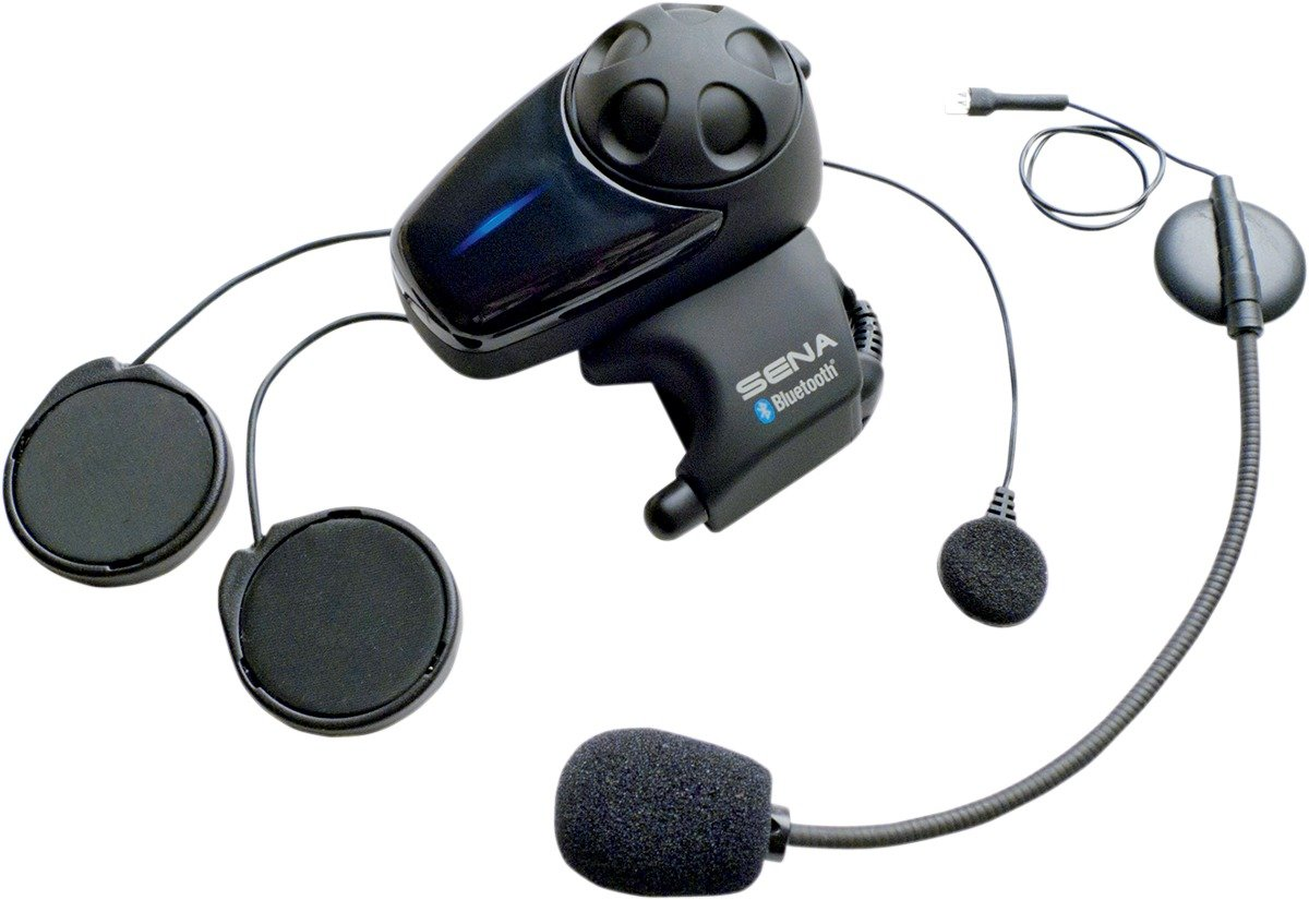 Sena SMH10D-11 Motorcycle Bluetooth Headset / Intercom with Universal Microphone Kit (Dual) by Sena