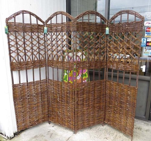 Master Garden Products 4-Panel Willow Screen Divider, 72 by 60-Inch from Master Garden Products