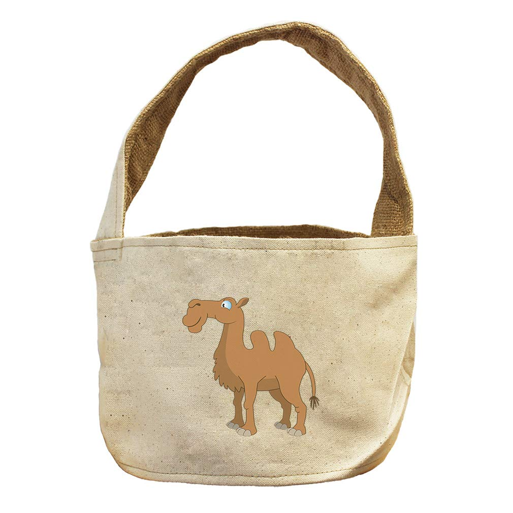 Style in Print Camel Animals Canvas and Burlap Storage Basket