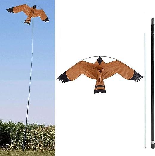 Garden Bird Deterrent Kite Set, Bird Scarer Repeller Defenders Hawk Kite for Outdoor Garden Farm Yard Decoration with Extendable Rod