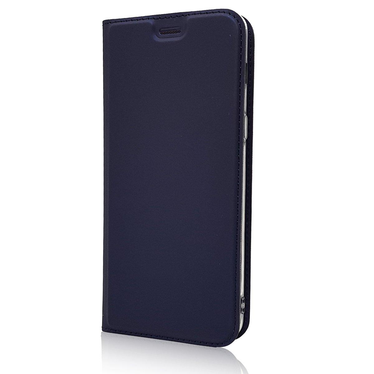 Para Samsung Galaxy A7 2018 Funda negro Cuero De La PU Magn/ético Capirotazo Billetera Apoyo Bumper Protector Cover Funda Carcasa Case