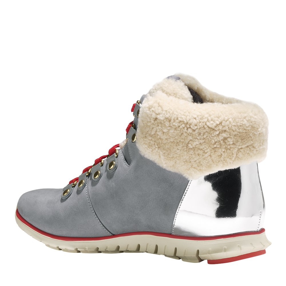 Cole Haan Women's Zerogrand Hikr Boot B076D813C4 7 B(M) US Gray Waterproof Nubuck-argento-ivory She