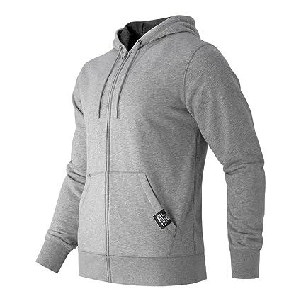 e67d6997c7494 New Balance Men's Essentials Plus Full Zip Fleece Hoodie, Athletic Grey,  Small