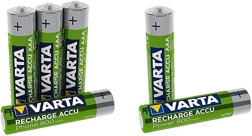 Varta Recharge Accu Phone Aaa Micro Ni Mh Akku 4er Pack Elektronik