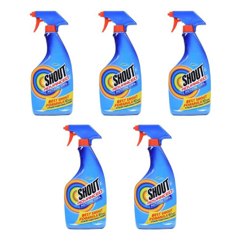 Advanced Stain Remover Gel 22 Ounces/Concentrated Gel/Spray Bottle (5 PACK)