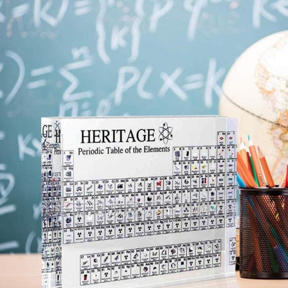 Dongbin Chemisches Element Periodensystem Und Echte Elemente Acryl Periodensystem Display Mit Elementen Lehrwerkzeug Student Lehrer Geschenk Basteln Dekoration