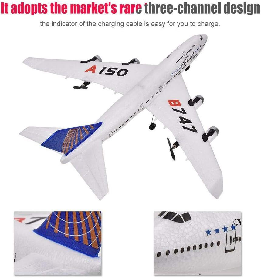Haute Simulation Trois Canaux Conception EPP Mat/ériel Mod/èle Avion UAV Jouet pour Boeing B747 Mod/èle Dilwe RC T/él/écommande Avion