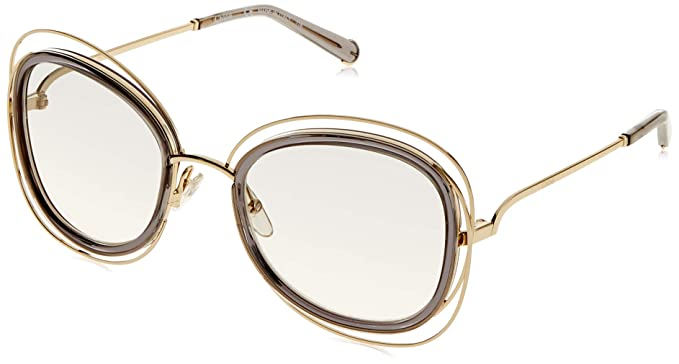 f45667f6333 Amazon.com  Chloe Women s Carlina Gold Transparent Grey  Clothing