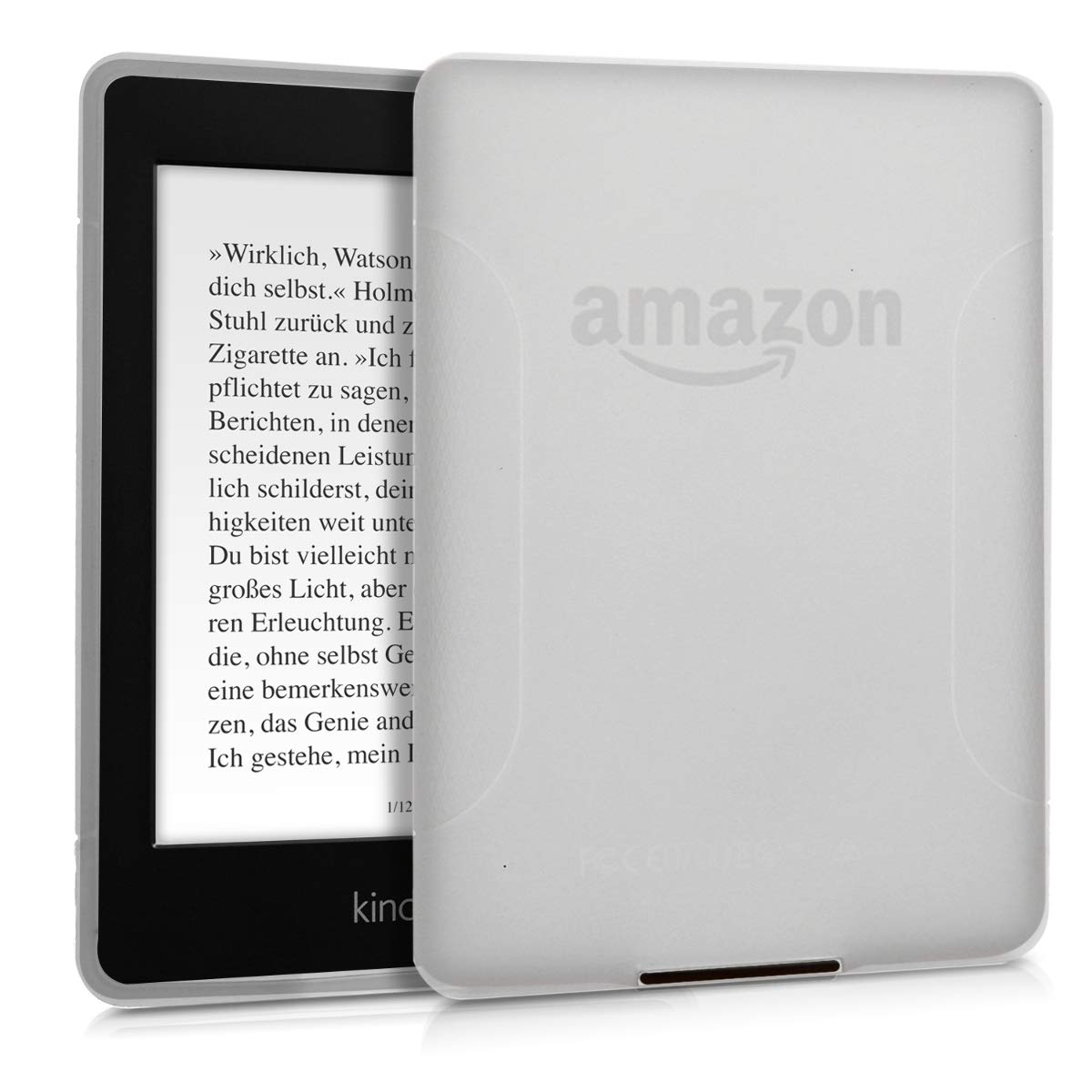 kwmobile Cover for Amazon Kindle Paperwhite - TPU Silicone case Protective Cover for eReader - Back Cover case in Matte Transparent