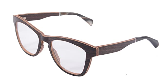 Horned Eyeglasses 11 Layers Wood Frame Optical Glasses Designed in ...