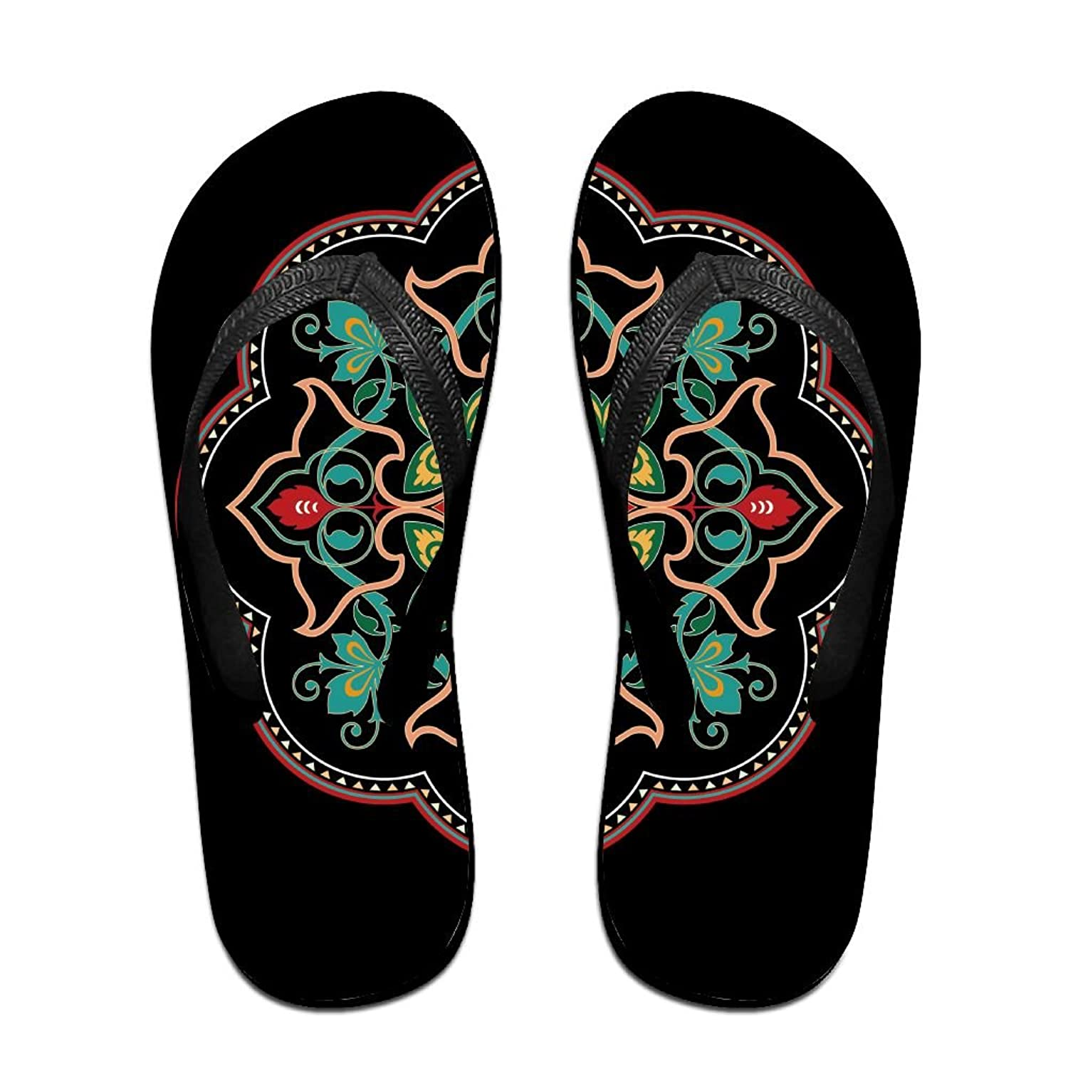 Creative Chinese Flowers Style Unisex Fashion Beach Flip Flops Sandals Slippers Sandal For Home & Beach