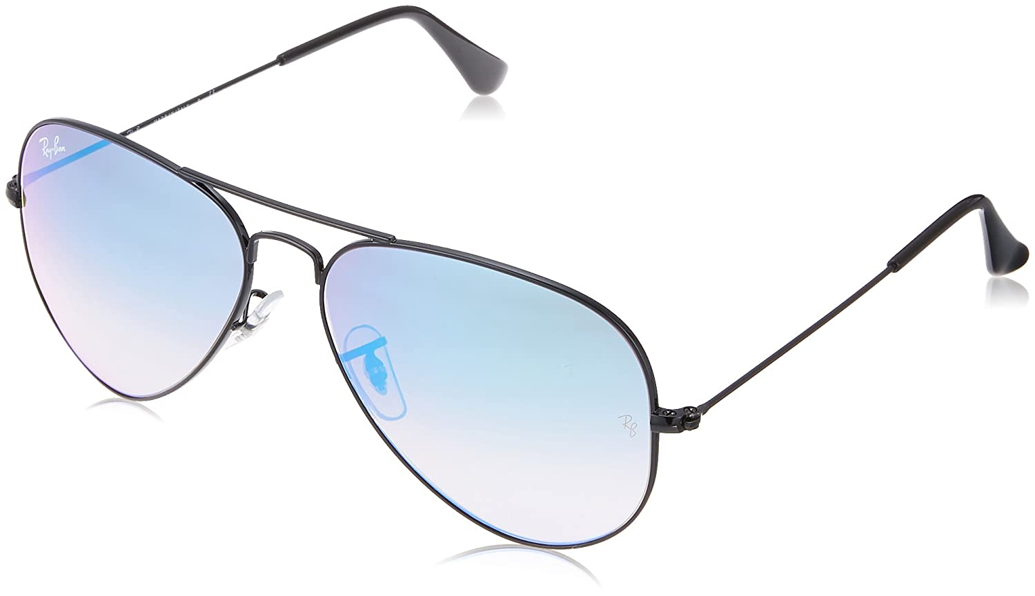 39b0f6da4445e Click Below Images to Enlarge. Style- Aviator  Color- Black  Lens- Blue  Gradient Flash ...